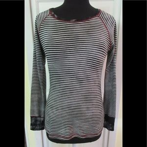 PrAna knit top Tuesday dye look striped size S